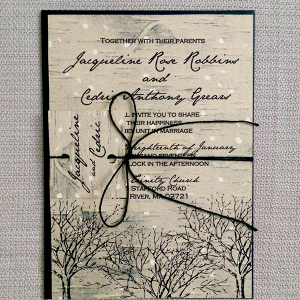 Birch Winter Wedding Invite