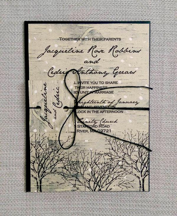 Birch Winter Wedding Invite