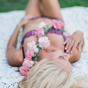 A bohemian bridal boudoir shoot