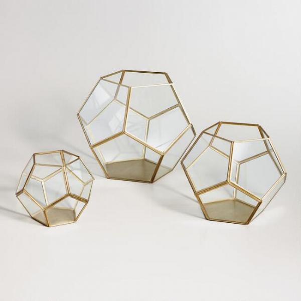Brass Geo Terrarium