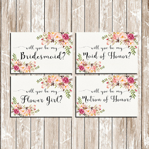 Be My Bridesmaid Printable Set