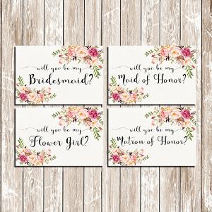 Be My Bridesmaid Printable Set