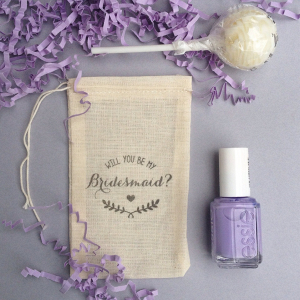 Will You Be My Bridesmaid Muslin Gift Bags
