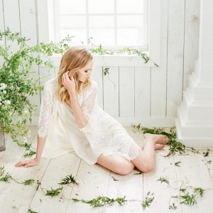 Greenery-filled bridal boudoir shoot