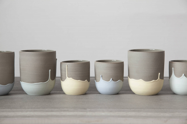 Pastel-Dipped Ceramic Mugs