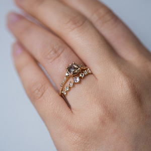 Ethical Champagne Diamond Engagement Ring