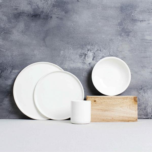Classic white dinnerware
