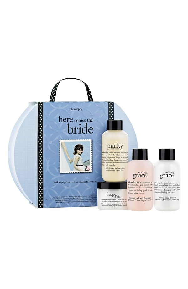 A bridal skincare set from Philosophy