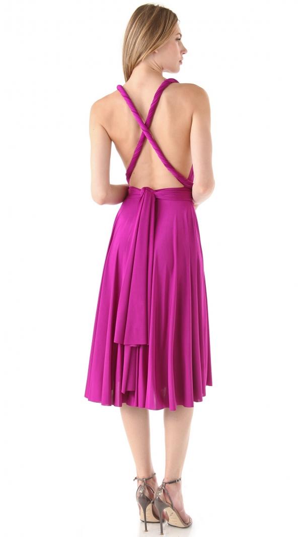 Convertible jersey dress for bridesmaids