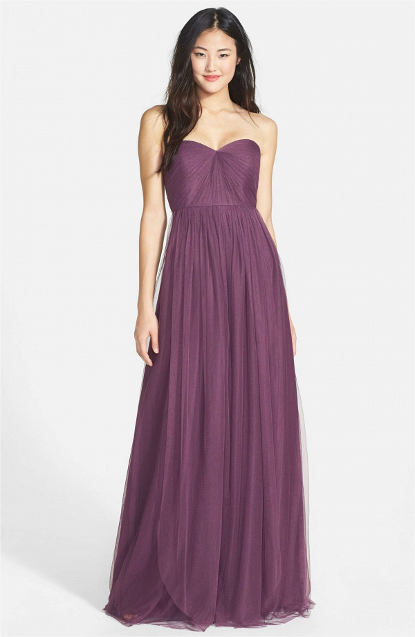 Convertible tulle column dress