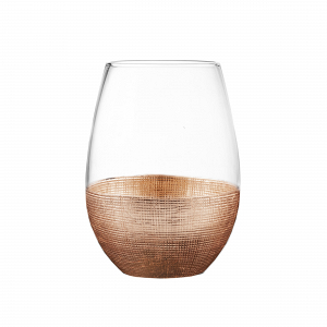 Crosshatched metallic wine glass