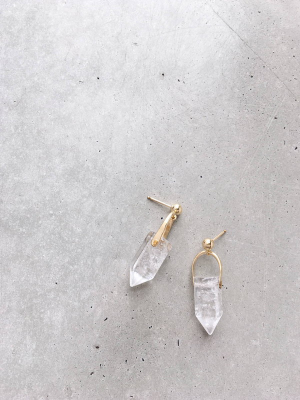 Crystal Arch Earrings