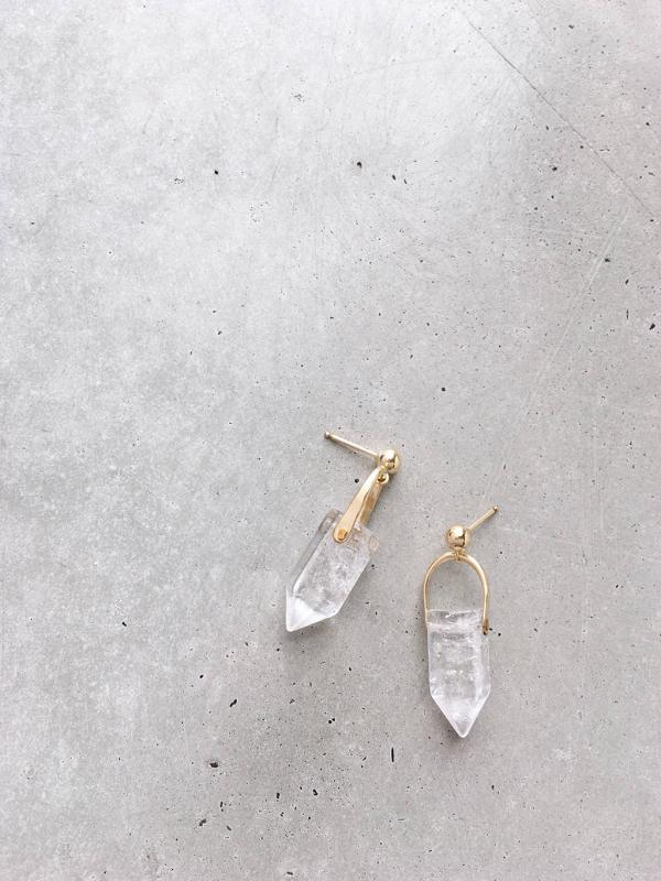 Crystal Arch Earrings