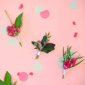 DIY foraged boutonnieres