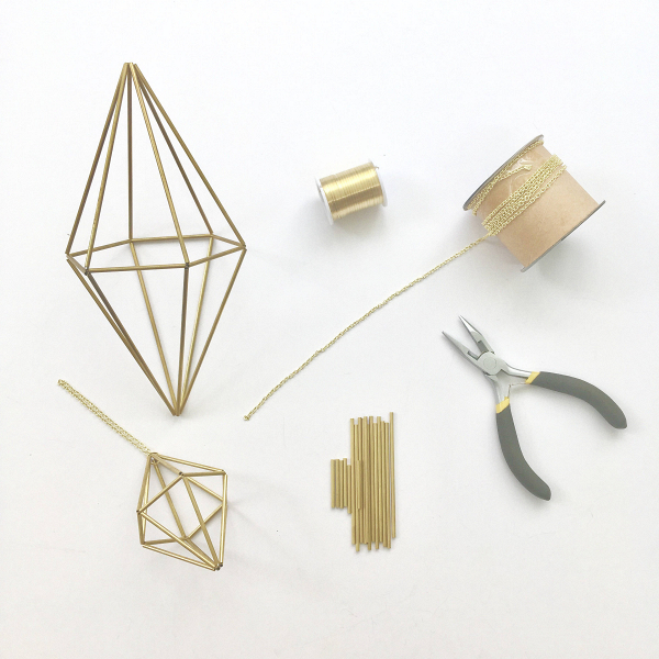 DIY Geometric Hexagonal Bipyramid Himmeli