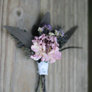 Dried Flower and Foliage Boutonniere