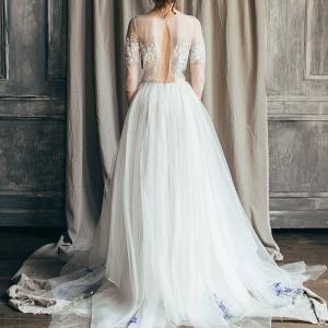 Emilia Open Back Wedding Dress Back