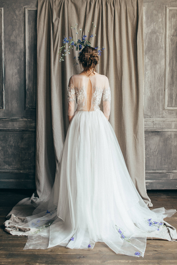 Emilia Open Back Wedding Dress Back