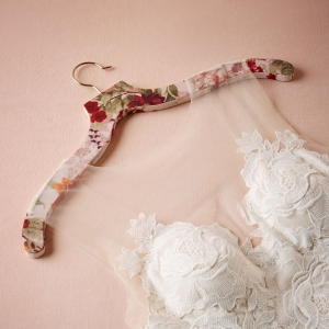 Romantic floral hanger for a wedding dress or bridesmaid dress