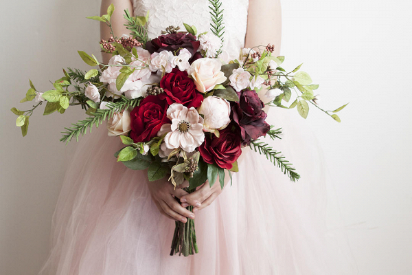 Red & Pink Bridal Bouquet