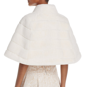Faux Fur Bridal Capelet