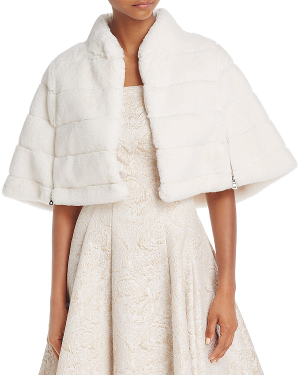 Faux Fur Bridal Capelet