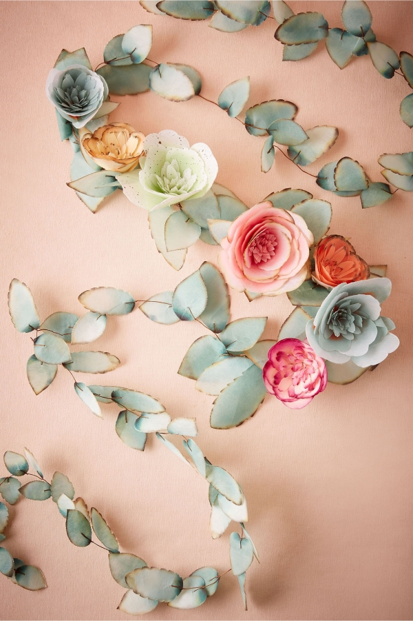 Faux floral garland