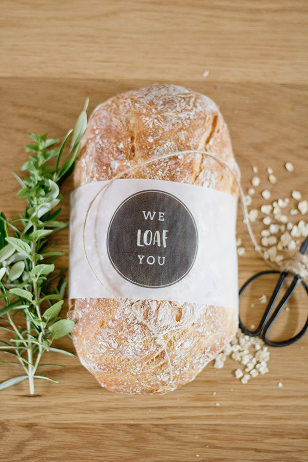 "Free ""We Loaf You"" bread sleeve printables"