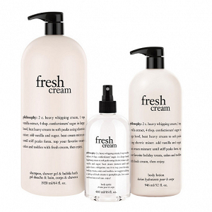 Fresh Cream Bath and Body Gift Set