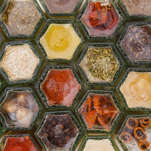 Hexagonal Magnetic Spice Jars