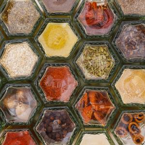 Hexagonal Magnetic Spice Jars