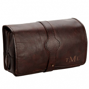 Hanging Leather Toiletry Case