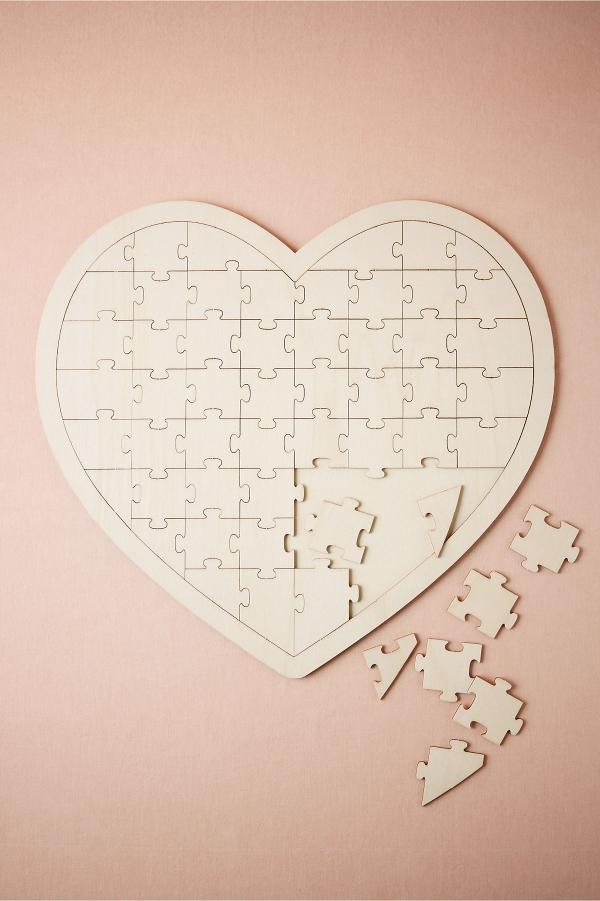 Heart jigsaw wedding guestbook