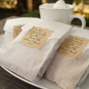 Personalized Favor Bags For Cocoa And Marshmallows