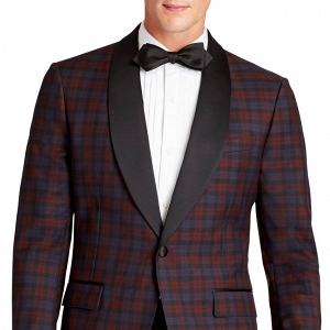Plaid Wool Dinner Jacket