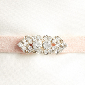Velvet bridesmaid belt with crystal embellishments