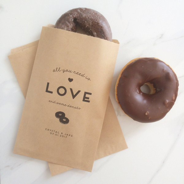 Donut Wedding Favor Bag
