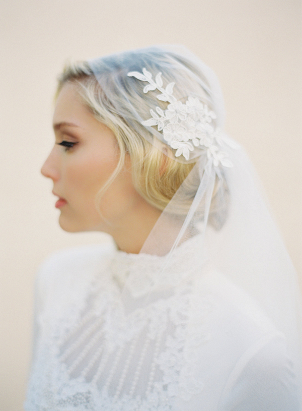 Lace And Tulle Juliet Cap Veil