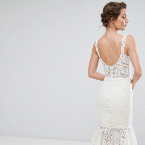 Lace Pencil Wedding Dress
