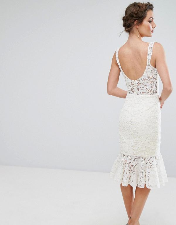 Lace Pencil Wedding Dress