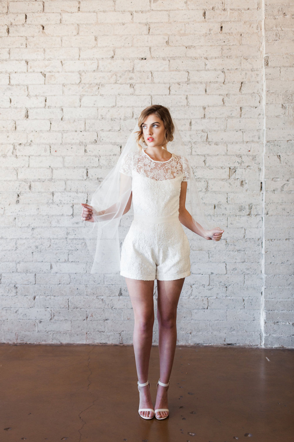 The Steph Lace Bridal Romper