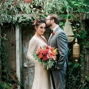 Moroccan-inspired garden party wedding