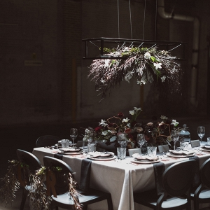 Moody industrial tablescape