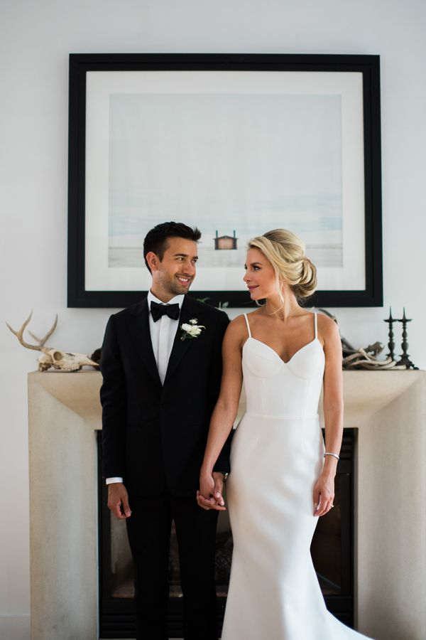 Chic penthouse elopement shoot