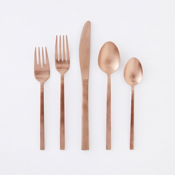 Modern Rose-Gold Flatware