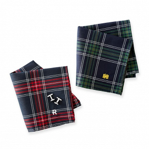 Classic plaid pocket squares