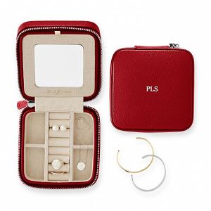 Monogrammed Travel Jewelry Case