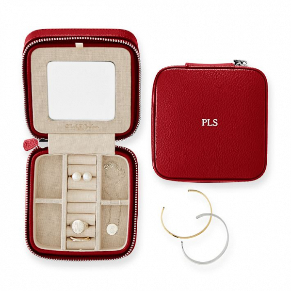 Monogrammed Travel Jewelry Case