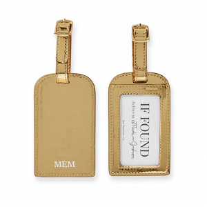 Gold Luggage Tags