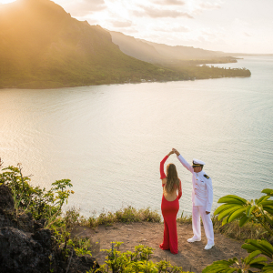 A mountaintop engagement session in Hawaii